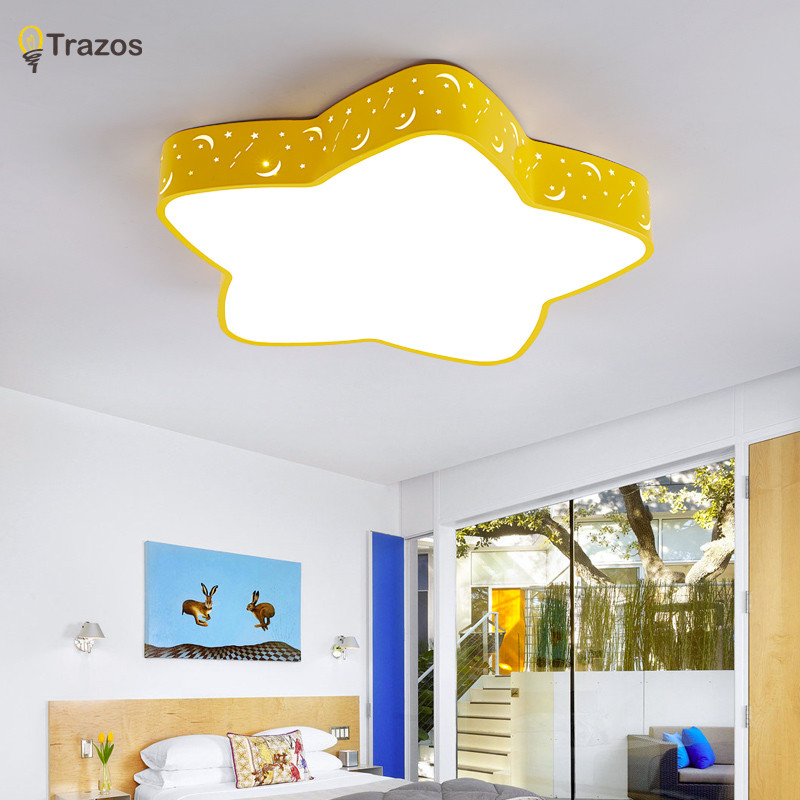 Led ceiling lights home lighting bedroom lighting lamp modern light Color polarizer Starfish lamps child luminaire lampe deco led ceiling pendant lamp black white red color indoor home decoration modern led light lighting luminaire