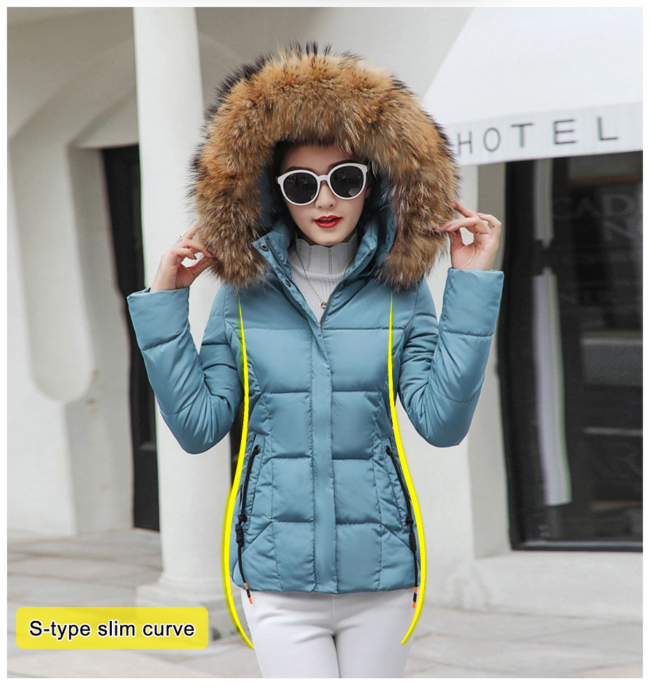HTB1vHpiFHGYBuNjy0Foq6AiBFXaZ 2019 Winter Jacket women Plus Size Womens Parkas Thicken Outerwear solid hooded Coats Short Female Slim Cotton padded basic tops