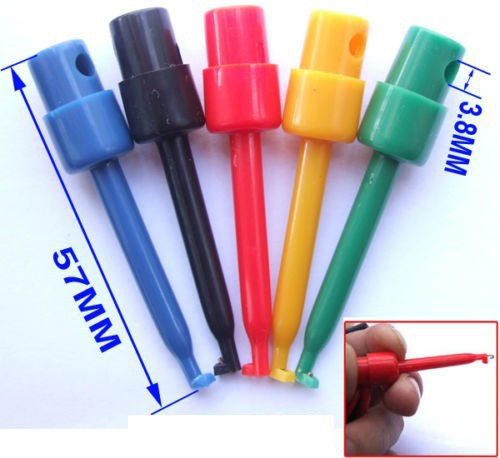 160 pcs Small Plastic Test Hook Clip Test Probe for SMD PCB IC Multimeter 2 3