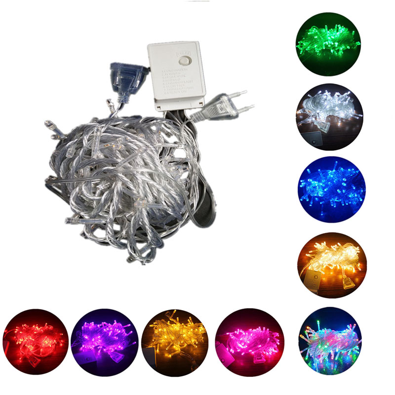 New Garland LED String Light 220v 10M 20M 30M 50M Valentine's Day Christmas Wedding Party Outdoor Decoration Lights Chain