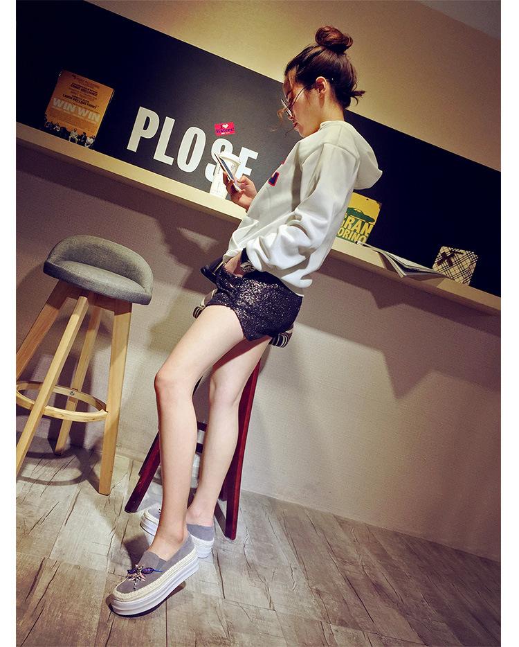 Big Size Women Platform Loafers Crystal Genuine Leather High Quality Pointed Toe Flats Shoes For Women Slipony Women Rhinestone  (13)