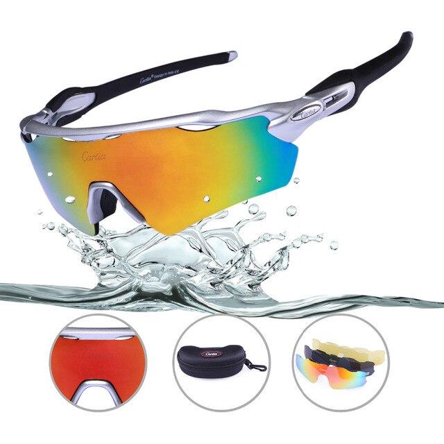 7b4e5773fd3 Carfia Polarized Sport Sunglasses Mens Womens UV400 Outdoor Cycling Glasses  for Biking Fishing Running Driving Ski Golf Baseball