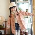 Девушки мода принцесса хлопок верхняя одежда детская красота кружева