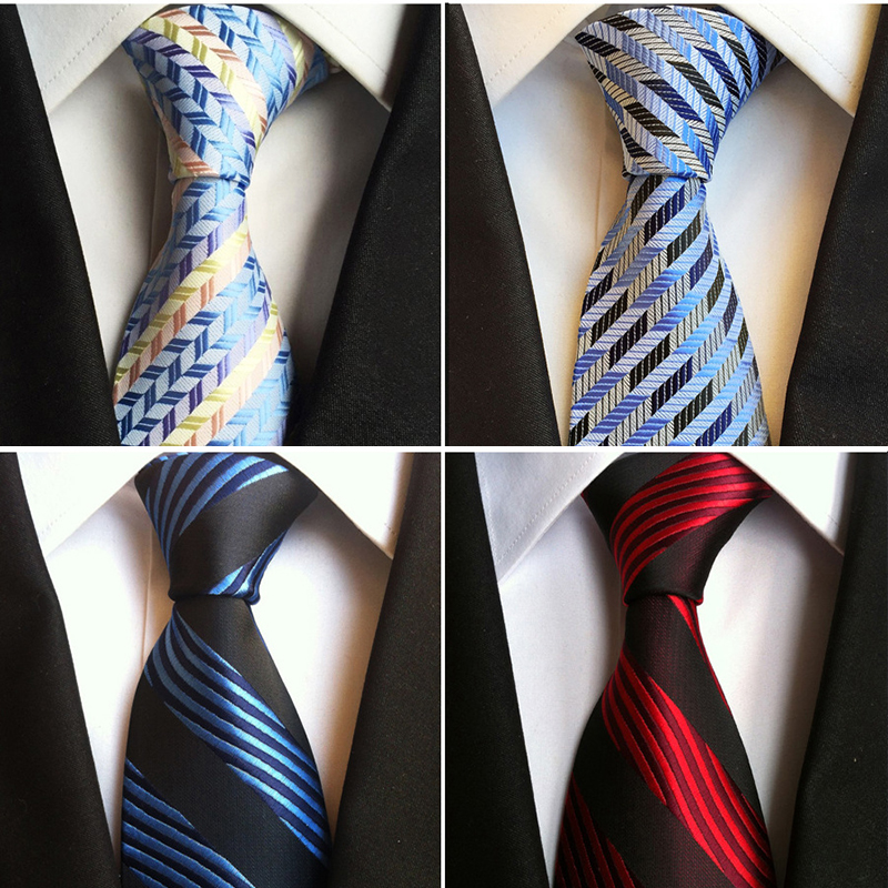 JEMYGINS Fashion Trend Men Tie 100% Jacquard Woven Silk Mens Ties