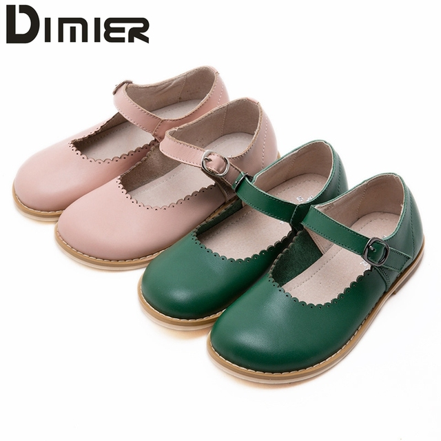 2016 nova baby girl shoes crianças menina oxford de couro verde rosa shoes retro crianças flats meninas da escola vestido de tênis para 3-12year