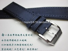 20 21 22mm Men's Composite fiber+Leather blue Watch Band Strap For iwc Seiko Tissot Hours Male Female Belt Bracelet Montre Cuir italy metal watch band for cartier blue balloon 14 18 20 mm bracelet belt brush steel strap for hours convex bretelle orologio