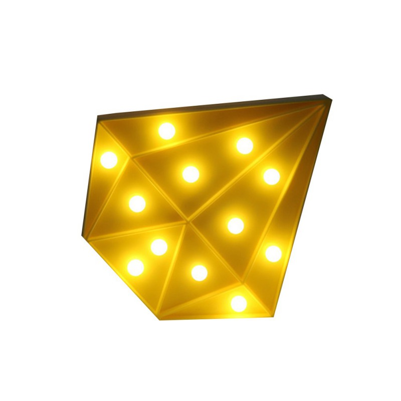 LED Night Light Colorful Diamond Shaped 4 Colors Children Cute Marquee Sign Night Lamp Bedroom Christmas Decoration Light
