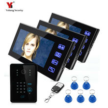 Yobang Security freeship 7 inch Video intercom Doorbell video door phone System Home Security TFT Monitor with Waterproof Camera