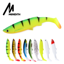 MEREDITH 4.73 Bleak Paddle Tail 14.5g 4pcs 120mm Fishing Soft Lures 3D Eyes T Artificial Bait Plastic Pike