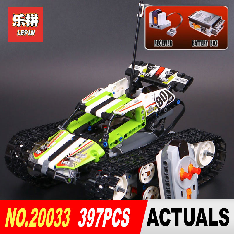 Lepin 20033 397pcs Technic Series Remote Control caterpillar vehicles Building Blocks Bricks Educational Toys Model with 42065