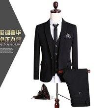 CCXO2017 male suit three-piece dress wedding party Business suit