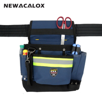 600D Oxford Fabric 6 Pocket Electrician Waist Bag Waterproof Tool Bag Holder Organizer Pouch With Work