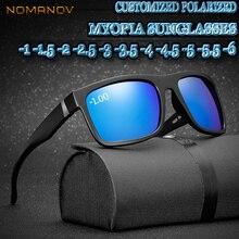Custom Made Myopia Minus Prescription Polarized Lens Large Square Colorful Mirror Retro Fashion Sunglasses -1  TO -6