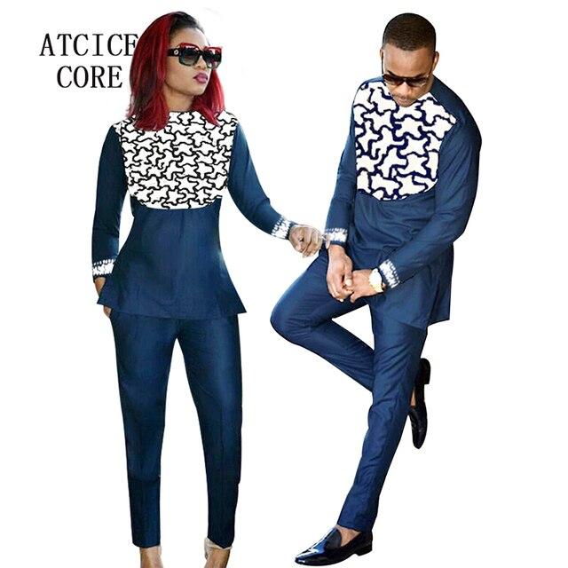 a096d8c9719 Vêtements africains pour hommes et femmes africains bazin riche conception  de broderie Couple porter des vêtements