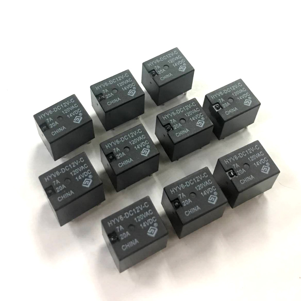 цена на 10Pcs Subminiature General Power Relay 12V DC 5 Pin Sealed Relays for Automobile - 7A 120VAC - 20A 14VDC