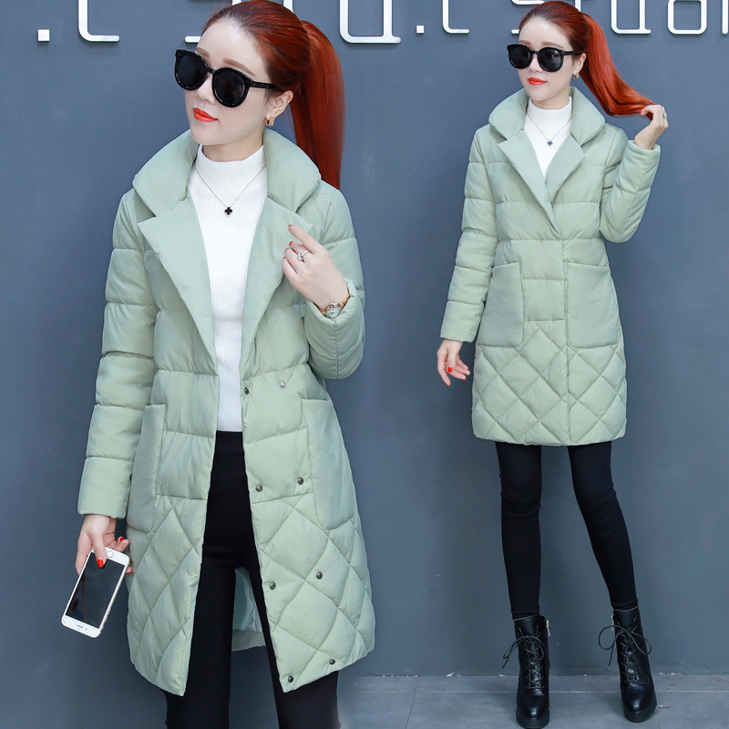 Bas jaune Nouveaux Le Femme vert 2018 Manteau Noir Long Veste Coton Slim Vers D'hiver Coréenne rose Hiver Clair Zzq8wdnC