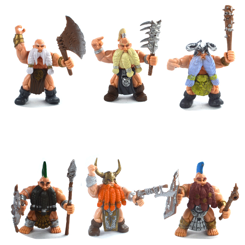 WOW toy model Movie Game Toy  Action Figure Classic Toys ,Dwarf nd Orc model