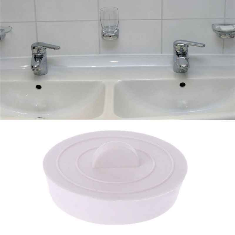 Silicone Bathtub Sink Wash Basin Plug Stopper Drain Stop Home Kitchen Bathroom