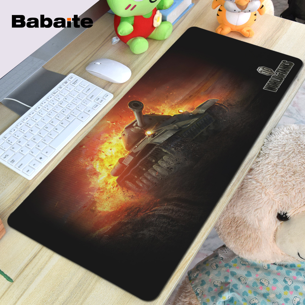 Babaite Control Gaming Surface Mouse Pad Computer Notebook Mice Mat World of Tanks Red Wallpaper Styles Gaming Optical Mice Mats