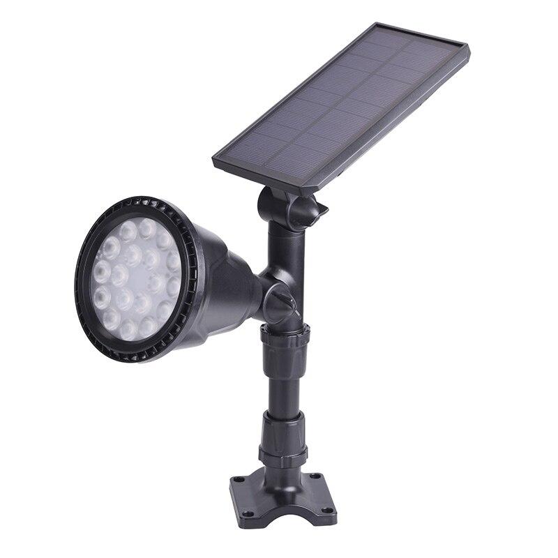 18LED outdoor Solar Lamp sensor auto Light control Spotlight Lawn Waterproof Panel Power Adjustable Flood Lamp white Garden Yard