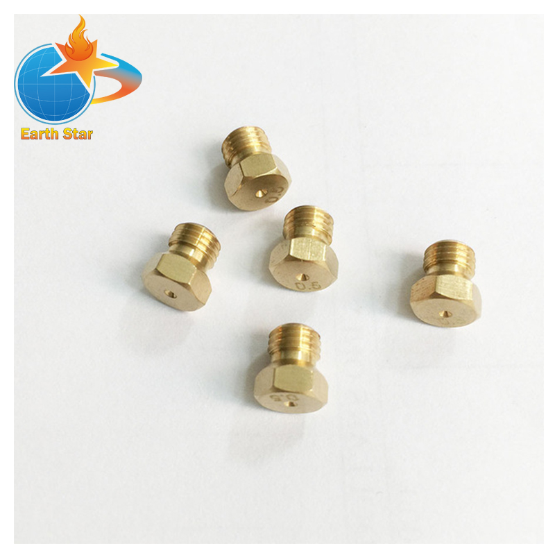 M6*0.75 brass jet nozzle Length 8mm and Hexagon 7mm for gas pipe water heater or heater falcon 535130132 gas thermostat copreci type gt 354 gas inlet pipe flange 21mm bypass nozzle 0 95mm