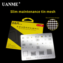 купить UANME Ultra Thin 0.1mm Motherboard IC Chip Ball Soldering Net Steel Plate For iPhone 5 5s 6 6s Plus 7 7Plus 8 8Plus X дешево