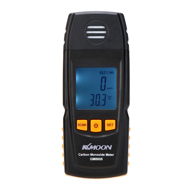 KKmoon Handheld Carbon Monoxide Meter with CO Gas Tester Monitor Detector Gauge 0-1000ppm GM8805