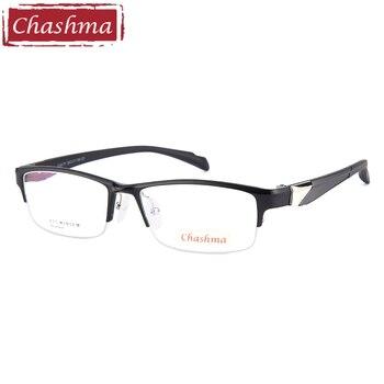 処方スポーツスタイル男性眼鏡アルミマグネシウムフレーム TR90 寺のファッション半縁眼鏡男性のためのクリアレンズ