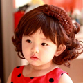 Kid Baby Wigs Infant Child Hair Wigs Wavy Curly Hair Accessories Lovely Cute Kid Baby Hair Photography Pictures Female Girl Wigs