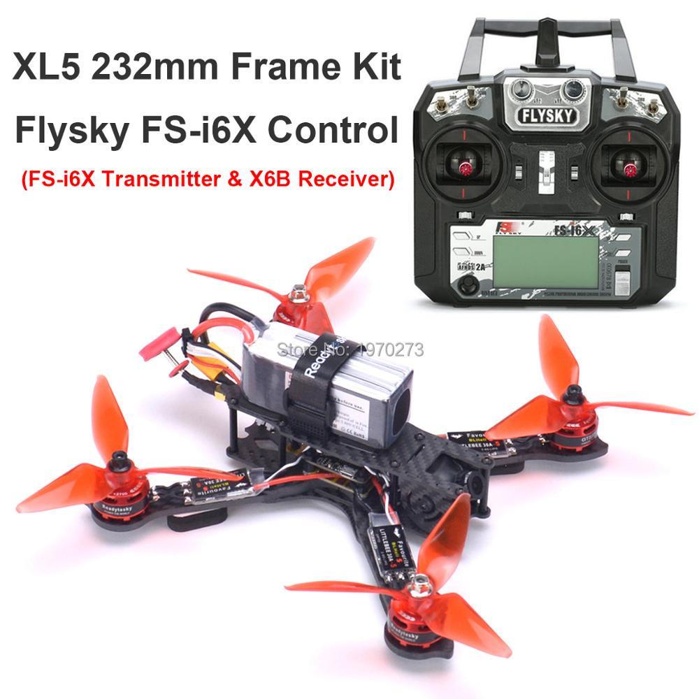 3K Full Carbon Fiber True X XL5 V2 232mm Quadcopter Kit GTS2305 2700KV Motor Littlebee 30A-s Freestyle Frame / Flysky FS-i6X FPV