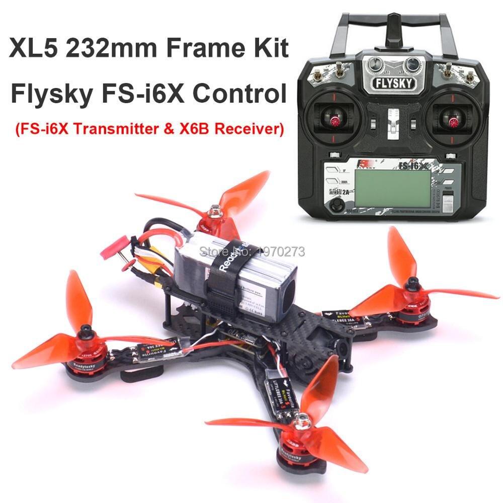 3K całości z włókna węglowego True X XL5 V2 232mm Quadcopter zestaw GTS2305 2700KV silnika Littlebee 30A s ramka Freestyle /Flysky FS i6X FPV w Części i akcesoria od Zabawki i hobby na  Grupa 1