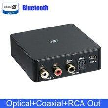 جهاز استقبال صوتي NFC مزود بتقنية البلوتوث 4.0 جهاز استقبال الموسيقى الرقمي اللاسلكي DAC APTX CSR مزود بمحورية بصرية RCA/مخرج SPDIF
