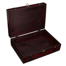 hot deal buy  desktop storage box antique wooden household register credential jewelry tool storage box gift box