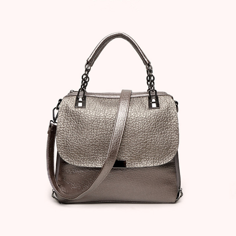 100% Genuine Leather Bag 2017 Women Leather Handbags Famous Brand Women Messenger Bags Big Ladies Shoulder Bag Bolsos Mujer