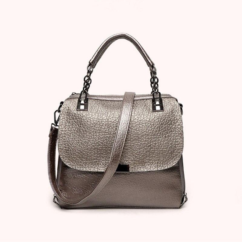100% Genuine Leather Bag 2017 Women Leather Handbags Famous Brand Women Messenger Bags Big Ladies Shoulder Bag Bolsos Mujer