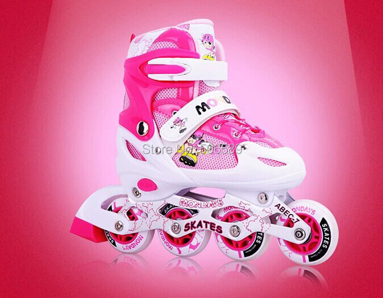 Free Shipping Children's Roller Skates First Wheel Is Flashing Only Skate Shoes