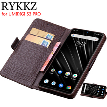 RYKKZ For UMIDIGI S3 Pro Luxury Wallet Genuine Leather Case Stand Flip Card Hold Phone Book Cover Bags