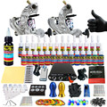 Solong Tattoo Complete Tattoo Kit for Beginner Starter 2 Pro Machine Guns 28 Inks Power Supply Needle Grips Tips TK204-3