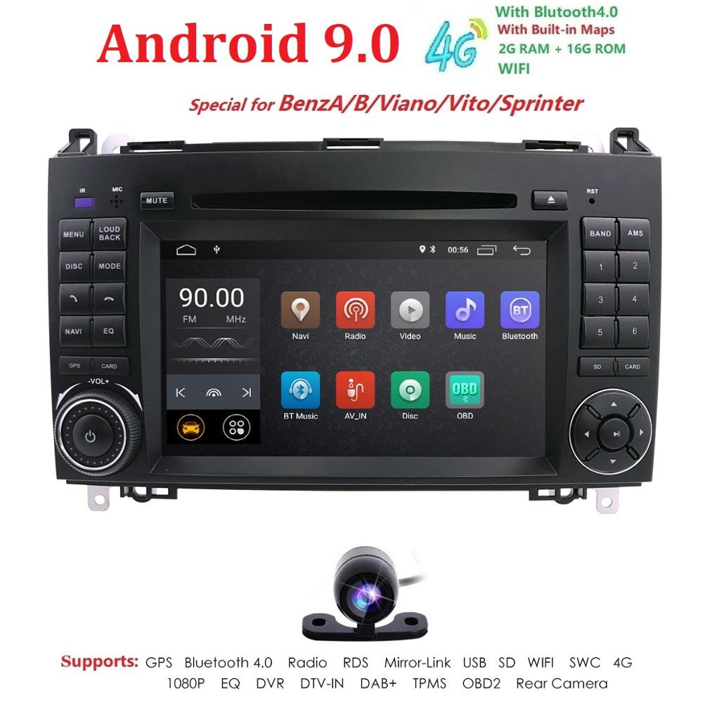 Ossuret 7'' Car DVD Player Radio Stereo For Mercedes Benz B200/Sprinter/W209/W169/B200/A-class/W169/B-class/W245/B170 GPS FM BT