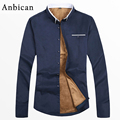 Anbican Fashion Winter Mens Casual Shirt Slim Fit Long Sleeve Thick and Warm Velvet Shirt Men Brand Cotton Social Shirts 4XL 5XL