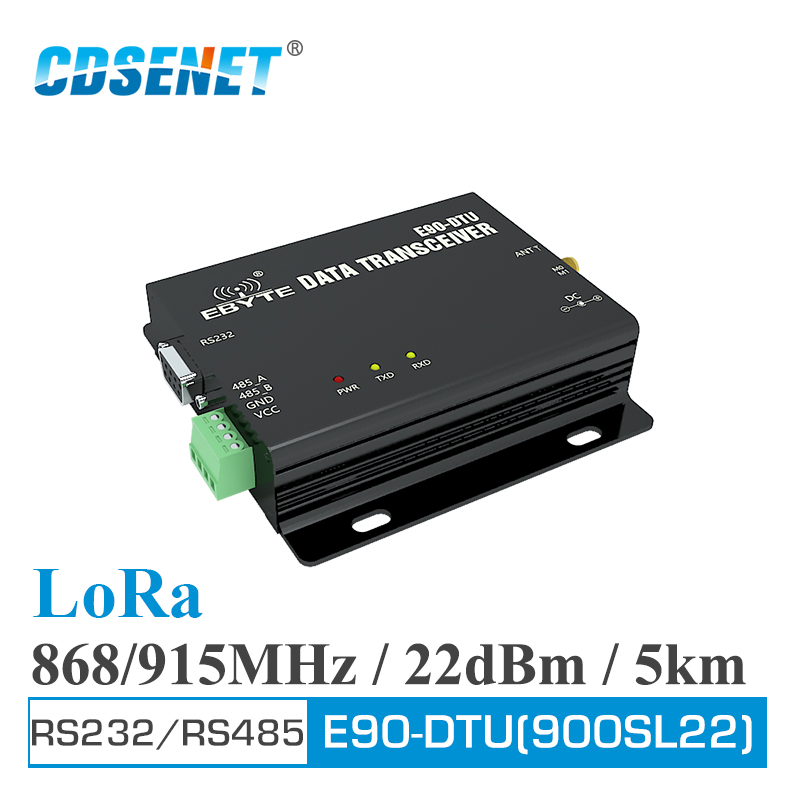 E90-DTU-900SL22 LoRa Relay 22dBm RS232 RS485 868MHz 915MHz Modbus Transceiver And Receiver RSSI Wireless RF Transceiver