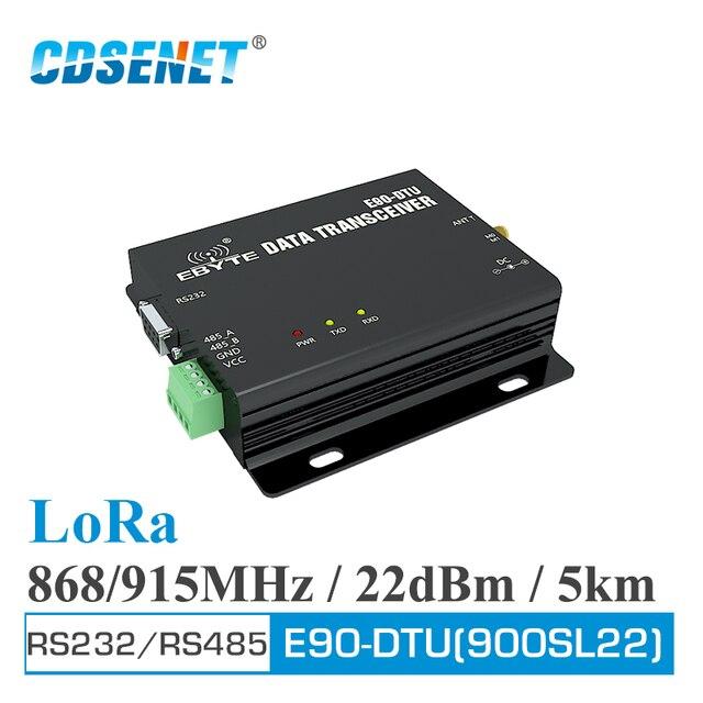Transmisor de RF inalámbrico SX1262 SX1268 E90 DTU 900SL22 LoRa 22dBm RS232 RS485 868MHz 915MHz receptor Modbus RSSI