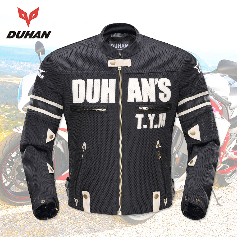 DUHAN Motorcycle Jackets Men Summer Guard Protection Racing Jacket Motocross Breathable Riding Jacket Professional Protector цены