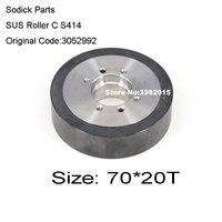 Sodick peças cerâmica sus rolo c s414 od70 * t20 mm código original 3052992 3052772|Máquina EDM p/ fios| |  -