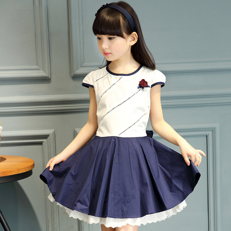 Buy Spring And Summer 2016 Korean Girls Fashion Princess Dress White Lace