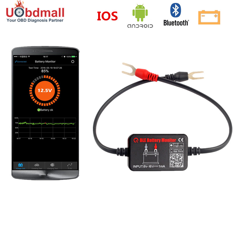 US $23 1 48% OFF|Tester Battery Car Bluetooth 12v Electric Circuit Cranking  Test for Android IOS Diagnostic Tool Automotive BM2 Battery Analyzer-in