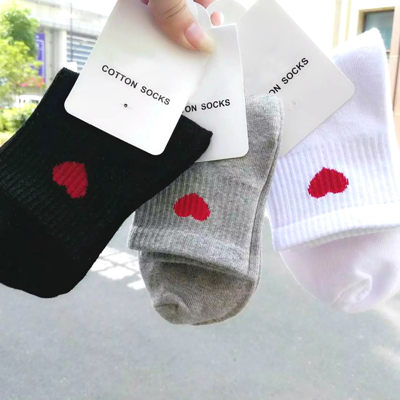 Love Heart Cute College Wind Simple Female Socks Warm Comfortable Cotton Sweet Ship Boat Short Sock Girl Funny Women Socks W0045