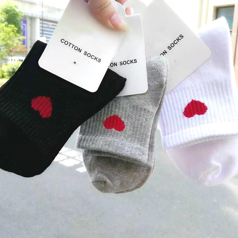 Love Heart Cute College Wind Simple Female Socks Warm Comfortable Cotton Sweet Ship Boat Short Sock Girl Funny Women Socks W0045