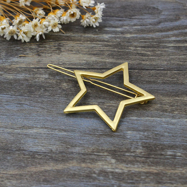 1 PC New Fashion Women Girls Hairpins Girls Star Heart Hair Clip Delicate Hair Pin Hair Decorations Jewelry Accessories