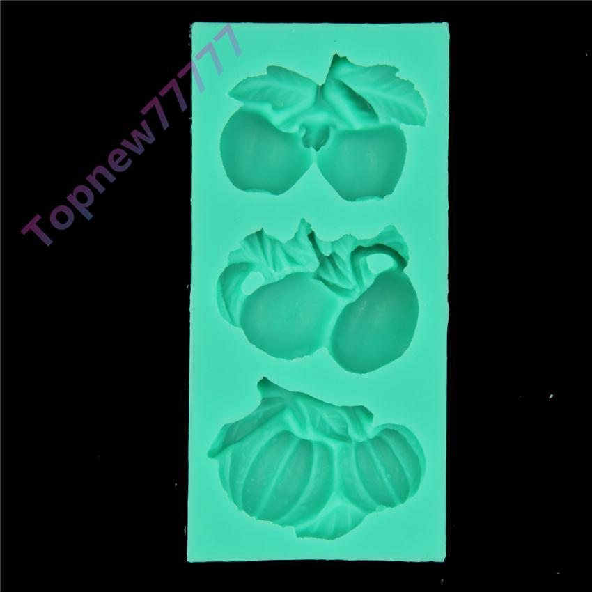 Fruit Series Fondant Cake Silicone Mould Chocolate Candy Jelly Mold Kitchen Accessories Baking Tools 1817